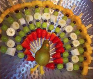 een pauw van fruit traktatie gezond